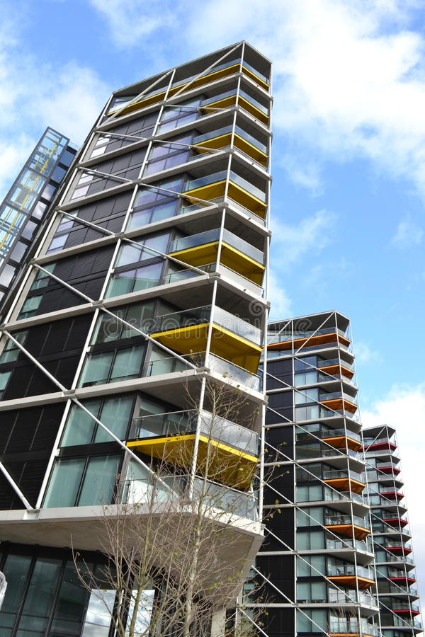 Download Modern Apartment Building Blocks London Stock Photo   Image Of  Modern, Apartment: 62462166