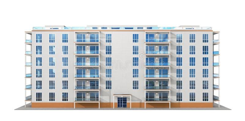 Modern, Apartment Building vector illustration