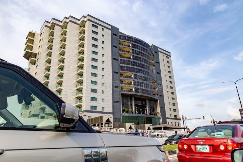 Modern Apartment building Lagos Nigeria stock images