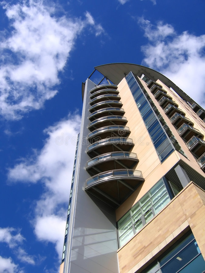 Modern Apartment Building in Manchester stock photography