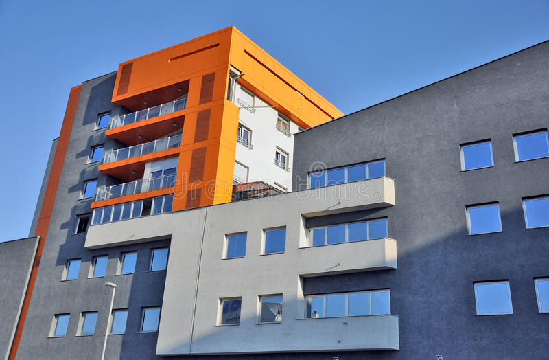 Modern apartment building stock images