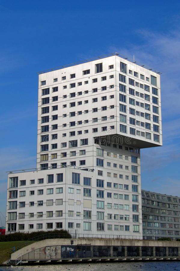 Modern Apartment building Silverline (Almere) royalty free stock image