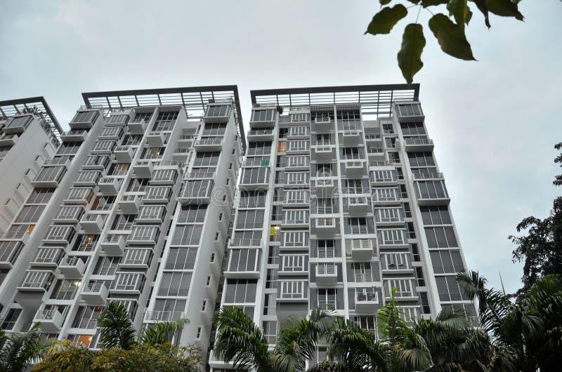 Modern apartment building in Singapore stock photos