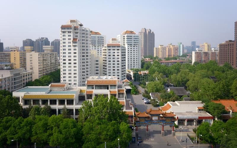 Modern apartment buildings in China, Beijing stock photo