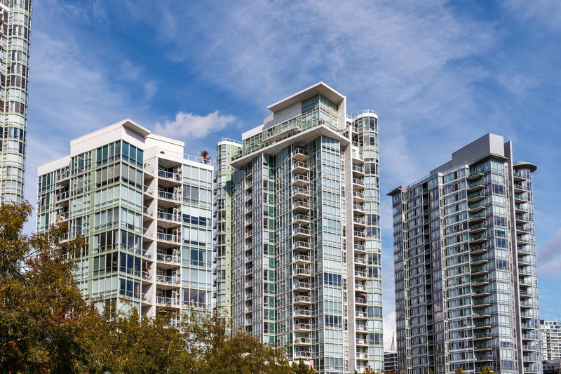 Modern Apartment Buildings royalty free stock image