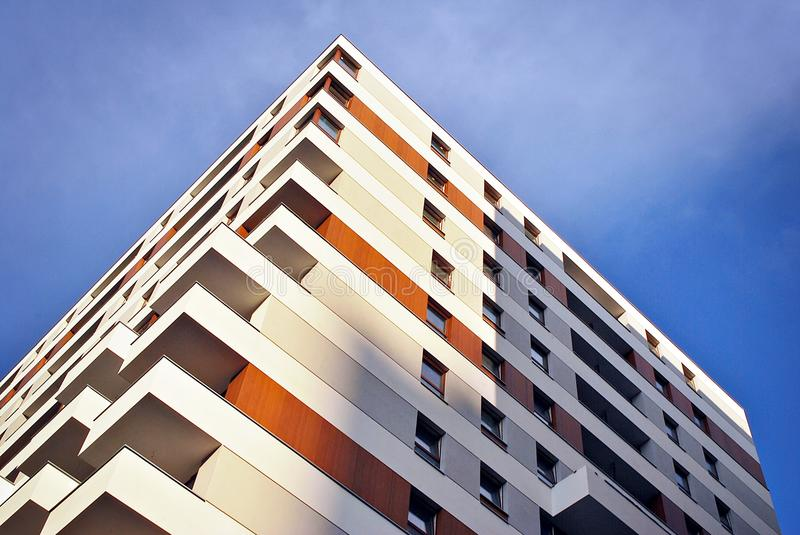 Download Modern Apartment Buildings Exteriors Stock Photo - Image of clouds, blue: 94630736