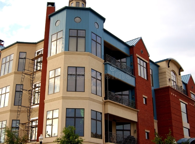 Download Modern apartment complex stock image. Image of building - 2611549