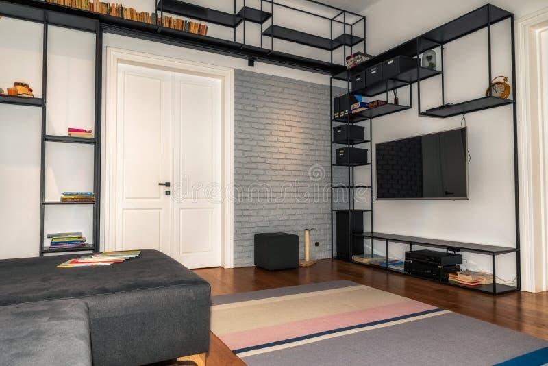 Modern apartment design stock photography