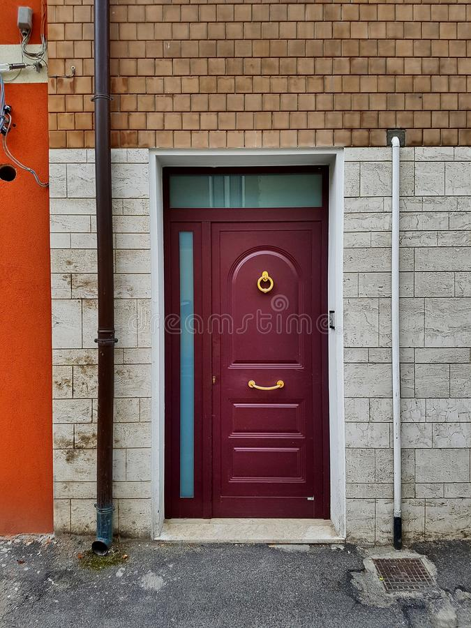 Free Modern Apartment Front Door In A Multicolored Ambience. Royalty Free Stock Photography - 77896477