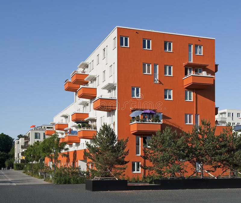 Modern Apartment House In Germany Stock Images