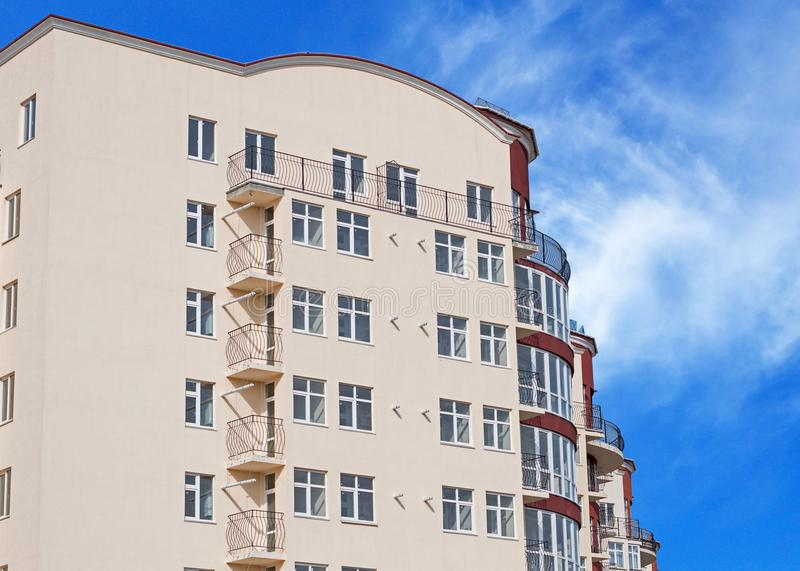 Modern apartment house. Modern, new executive apartment building in Kerch stock images