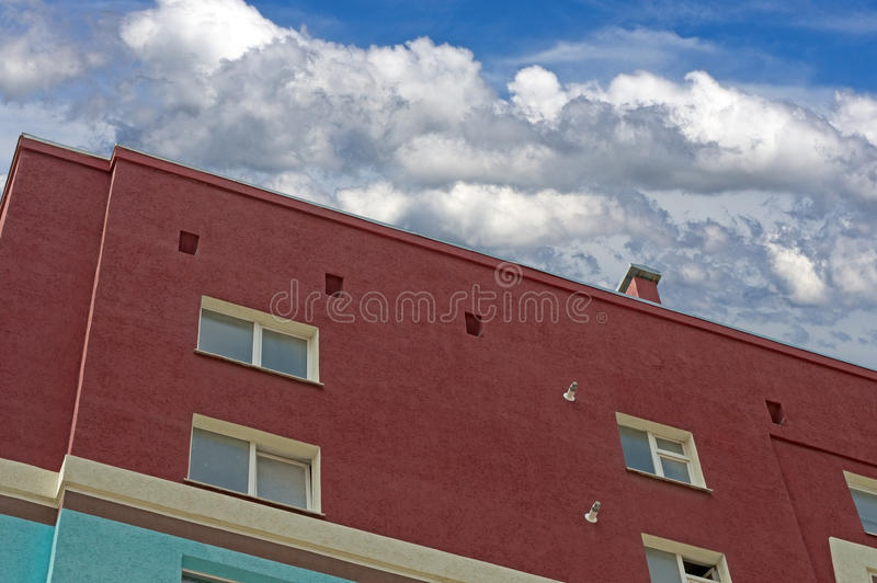 Modern apartment house. Modern, new executive apartment building royalty free stock photo