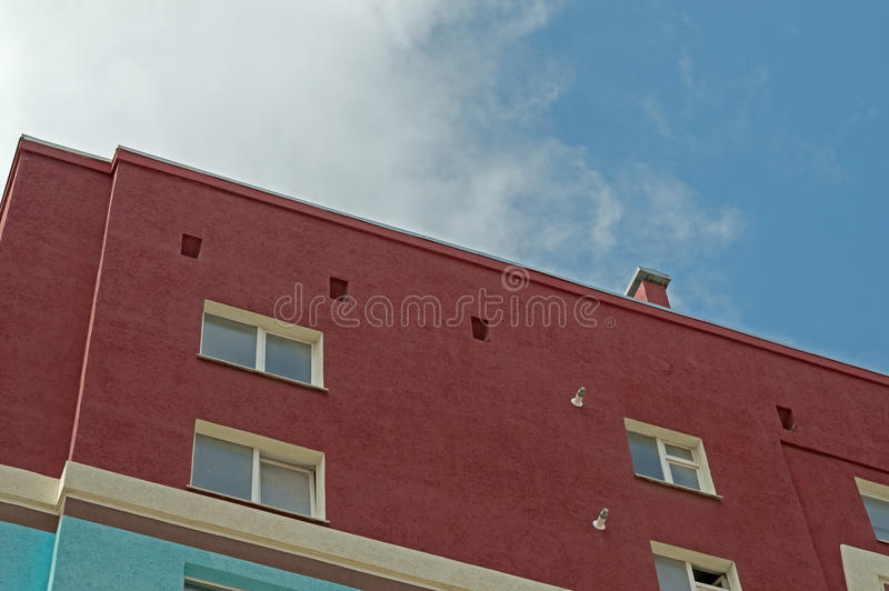 Modern apartment house. Modern, new executive apartment building stock photography