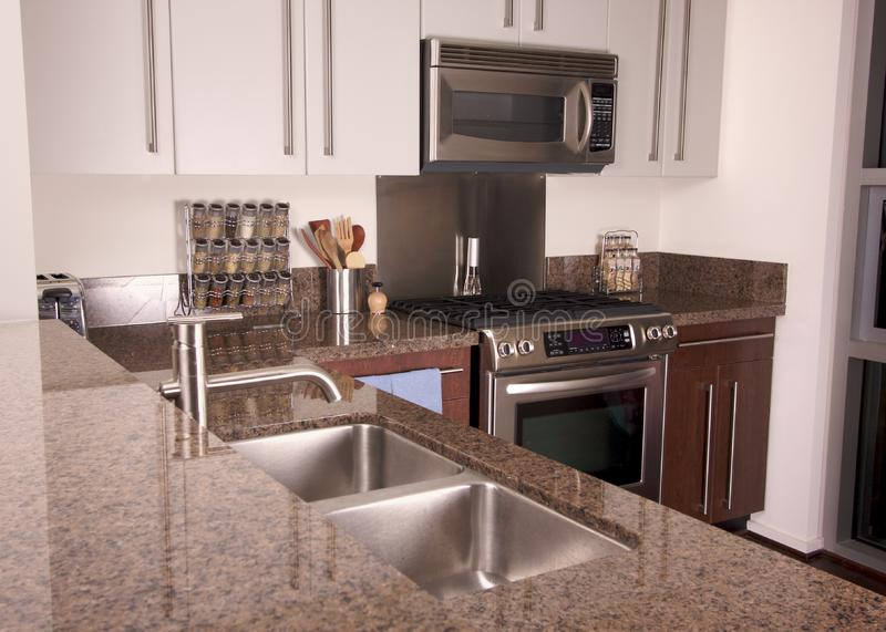 Modern Apartment Kitchen stock photos