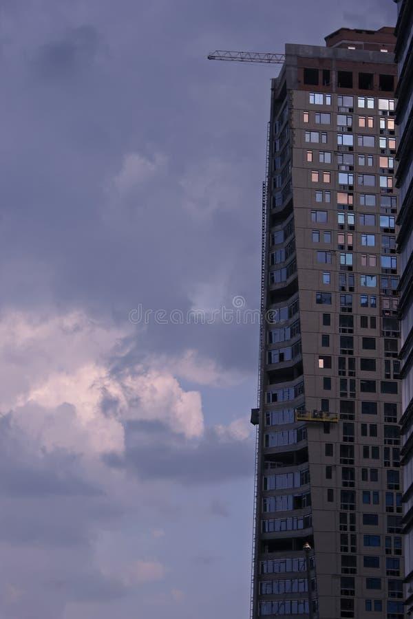 Modern apartment new style building in Kiev Ukraine stock photo