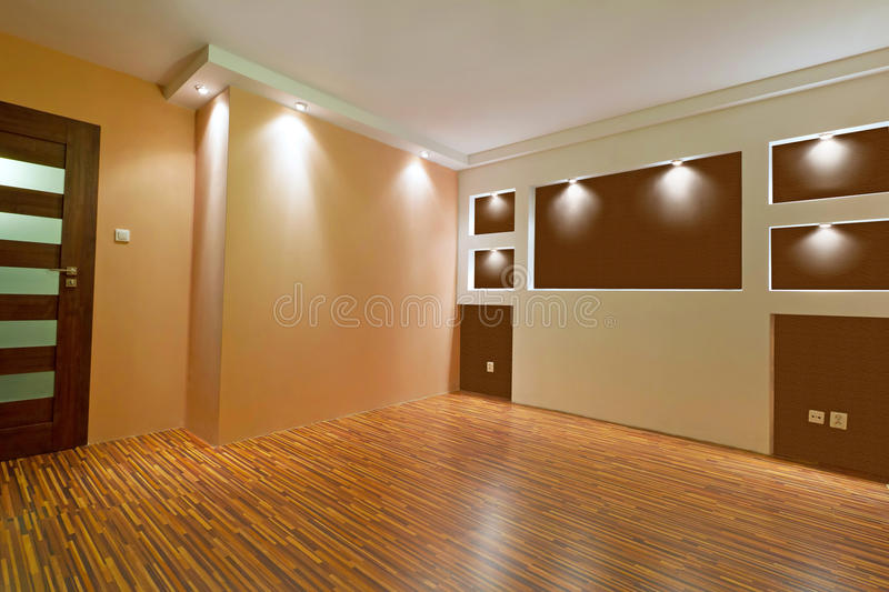 Modern apartment after renovation stock image