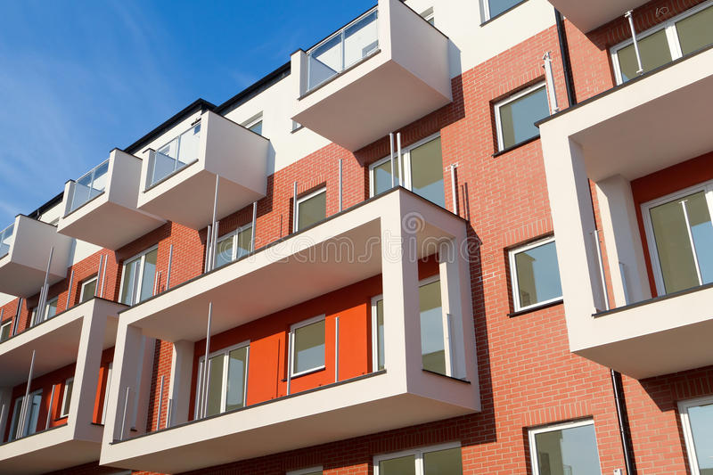 Modern apartments royalty free stock photo
