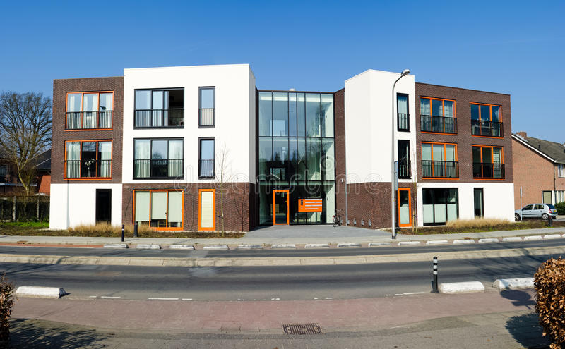 Modern apartments. Modern new apartments for single households stock photo