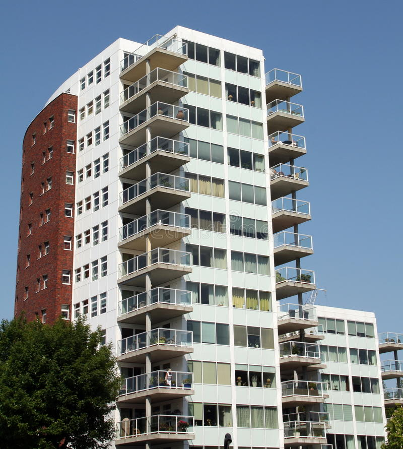 Modern apartments building royalty free stock photography