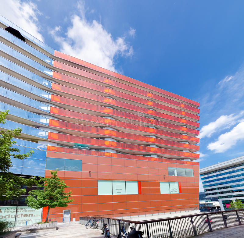 Modern apartments. Exterior of a modern apartment in almere, netherlands. Almere is the youngest city in the netherlands and lies completely below sea level (2 royalty free stock photography