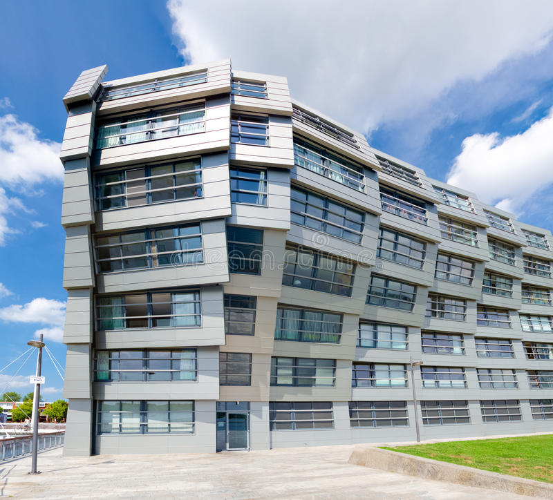 Modern apartments. Exterior of a modern apartment in almere, netherlands. Almere is the youngest city in the netherlands and lies completely below sea level (2 royalty free stock photo