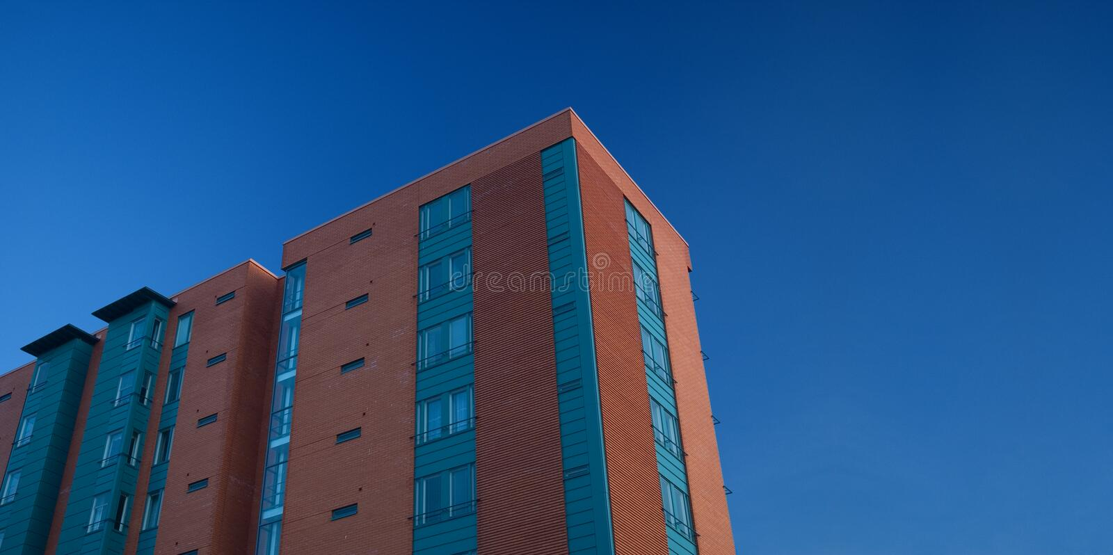 Modern appartment building royalty free stock photography