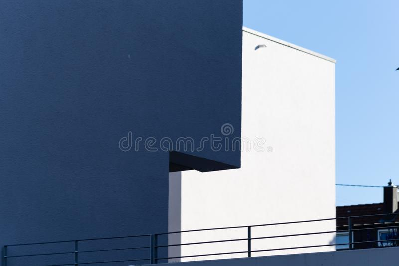 Modern appartment building facade. At summer in south germany stock images
