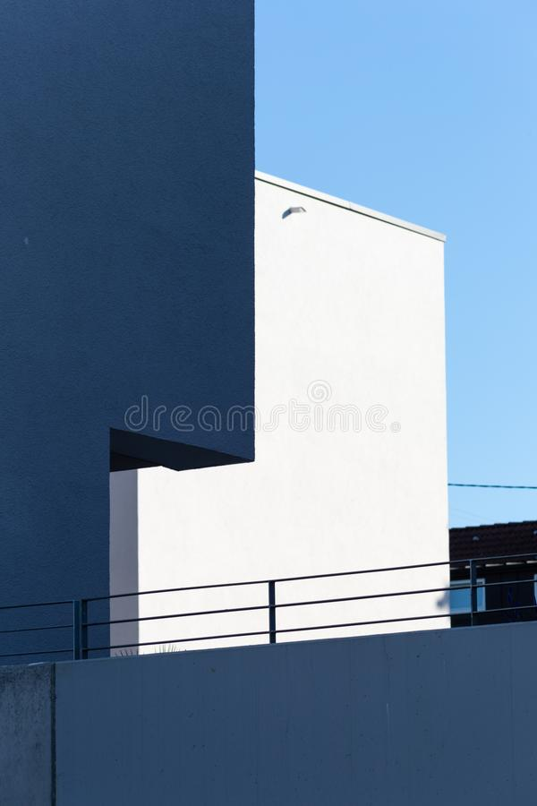 Modern appartment building facade. At summer in south germany royalty free stock image