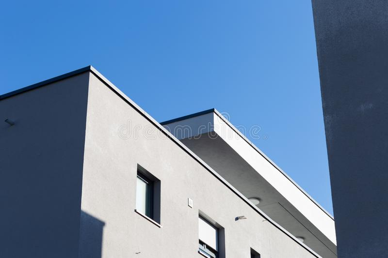 Modern appartment building facade. At summer in south germany royalty free stock photography