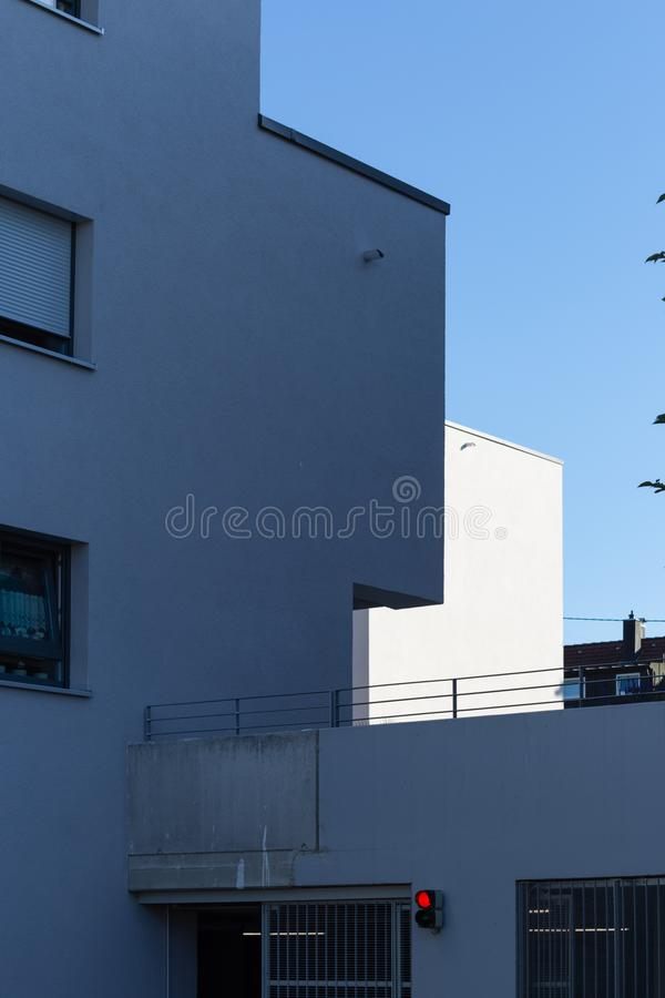 Modern appartment building facade. At summer in south germany stock photography