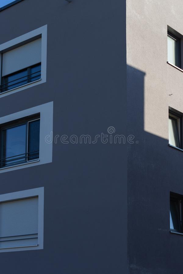 Modern appartment building facade. At summer in south germany stock photo