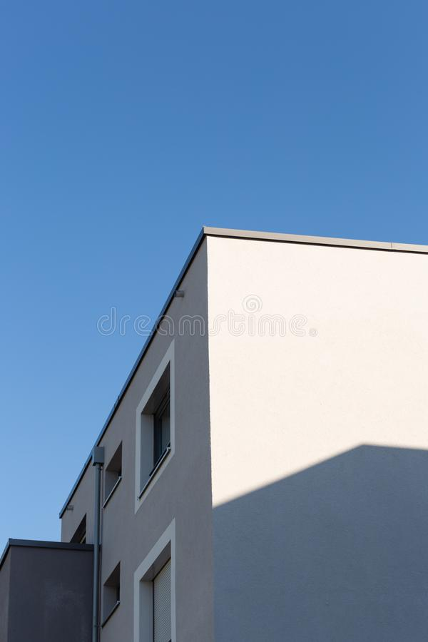 Modern appartment building facade. At summer in south germany royalty free stock photos