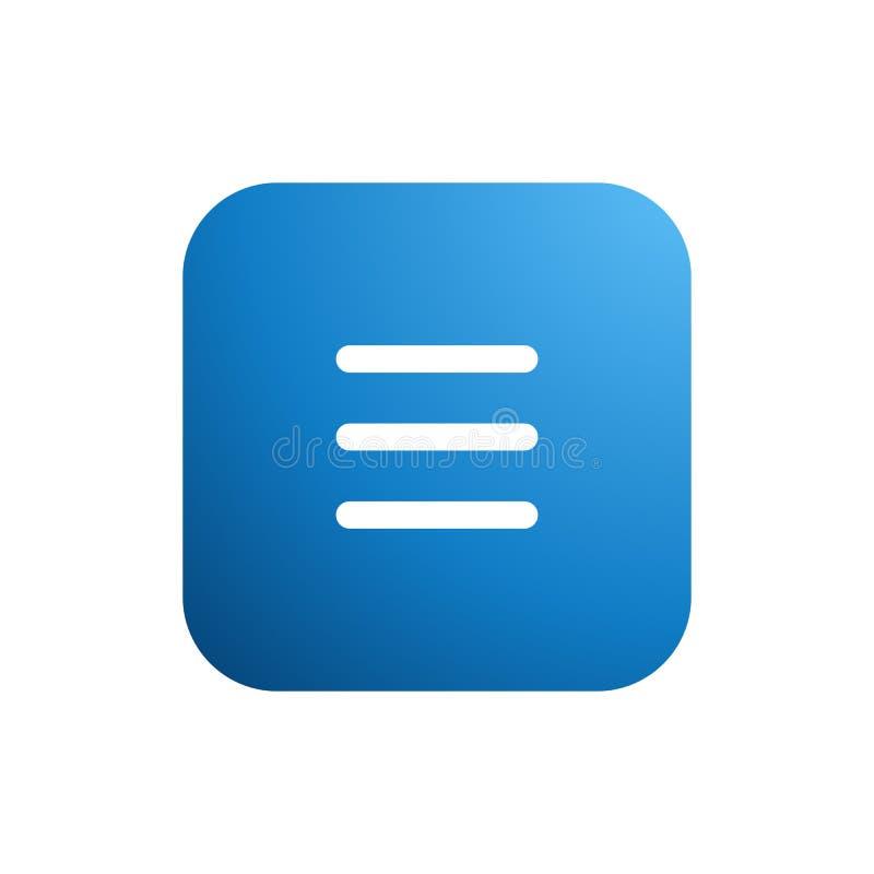 Modern Apps Essential Menu List Icon Button Logo stock illustration