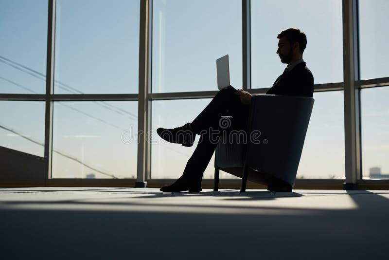 Modern arbetsgivare royaltyfri foto