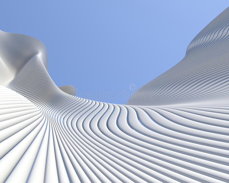 Modern architectural design stock images