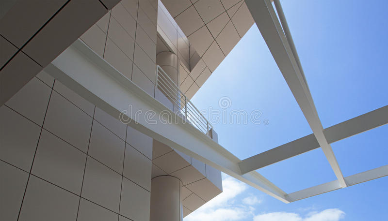 Modern architectural features of the Getty royalty free stock photos