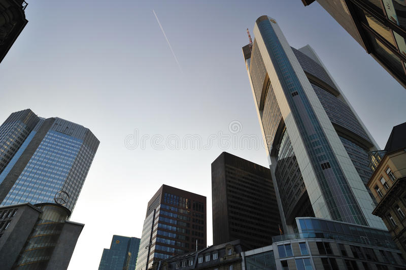 Frankfurt business city royalty free stock photography