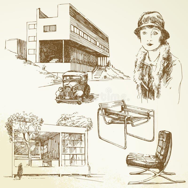 Modern architecture stock illustration