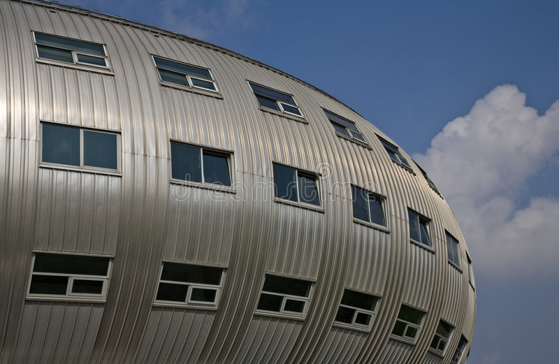 Modern architecture. Modern curved office building in Almere, Holland stock photo