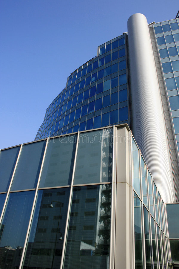 Modern Architecture 8 Building in Offices Quarter. Milan royalty free stock photo