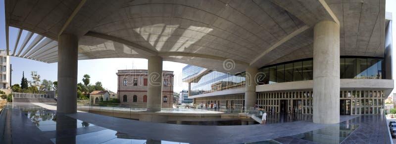 Modern architecture. Building in Greece. panoramic scene stock photo