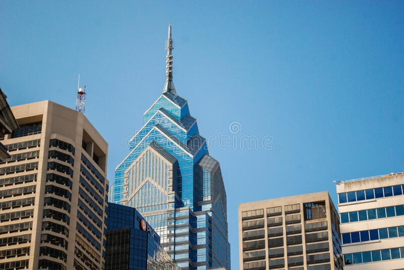 Modern architecture against blue skies royalty free stock photography