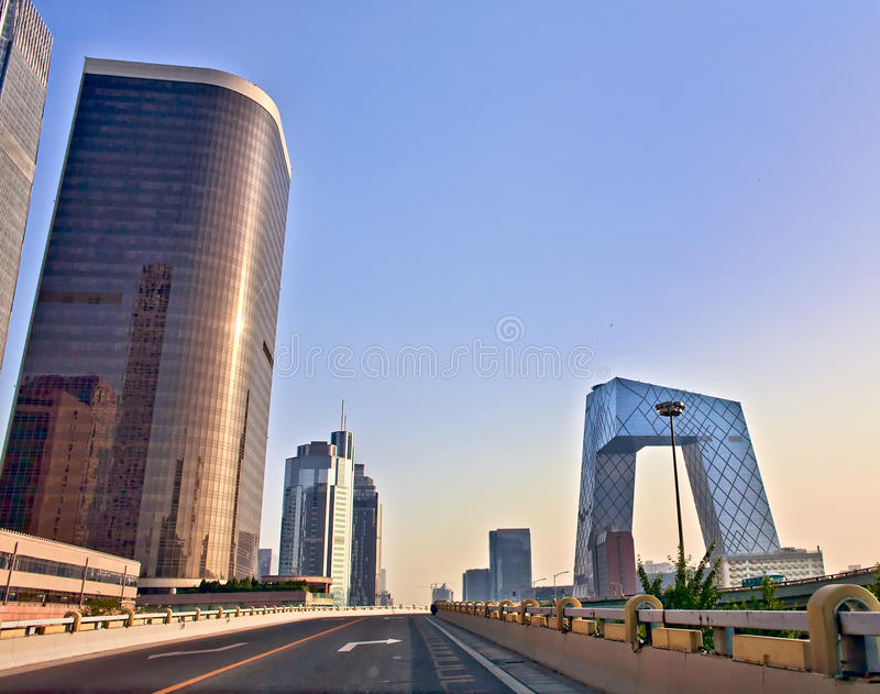 Download Modern Architecture Of Beijing At Sunrise Stock Photo - Image of light, evening: 21990506