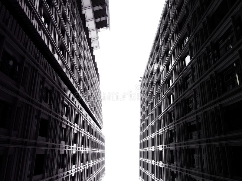 Modern architecture in black and white royalty free stock photos