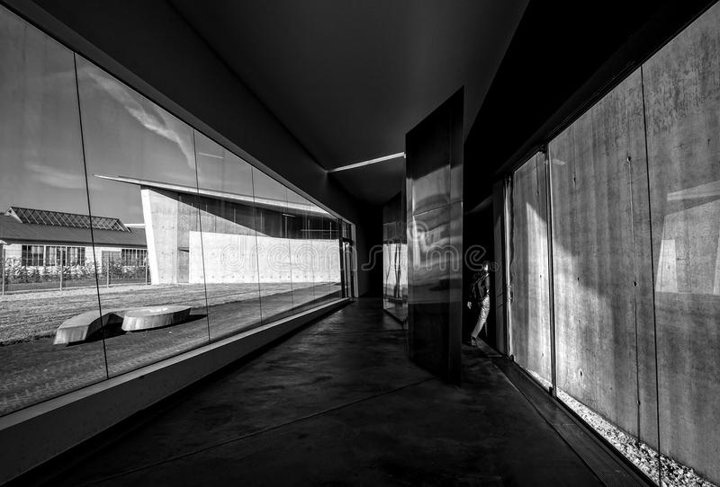 Modern architecture. Black and white royalty free stock image