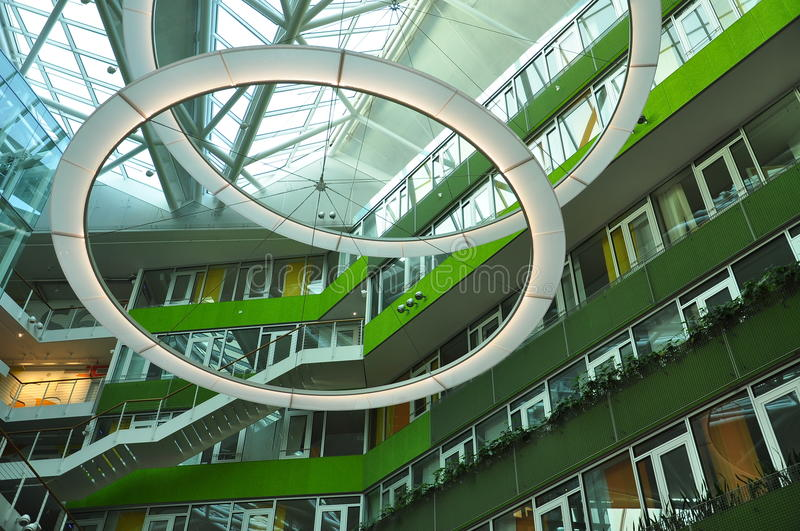 Modern architecture, building interior space design. stock photography