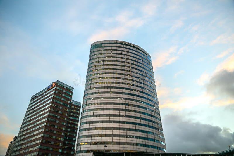 Modern architecture of business city. Biljlmer Arena Amsterdam - Netherlands. royalty free stock photo