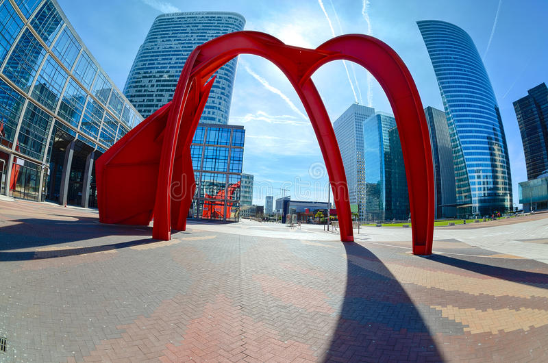 Download Modern Architecture In The Business District Of La Defense, Pari Editorial Photo - Image of cityscape, blue: 33163521