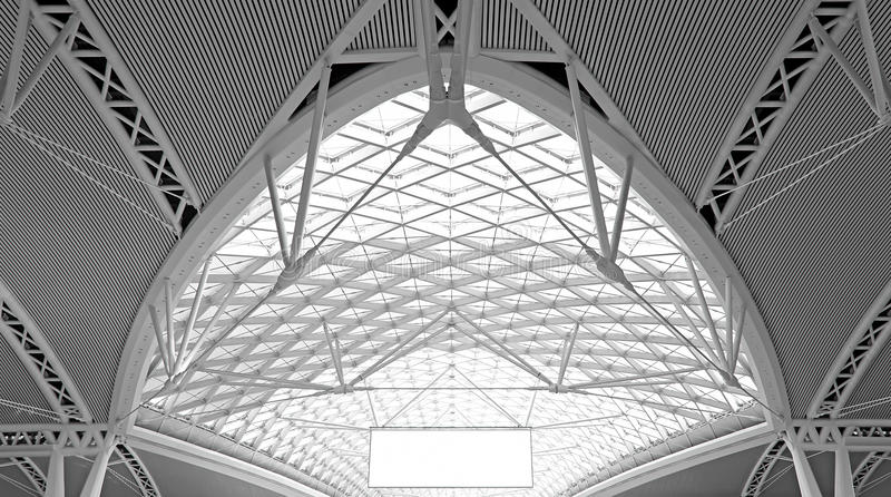 Modern architecture : curvy steel roof structure design royalty free stock images