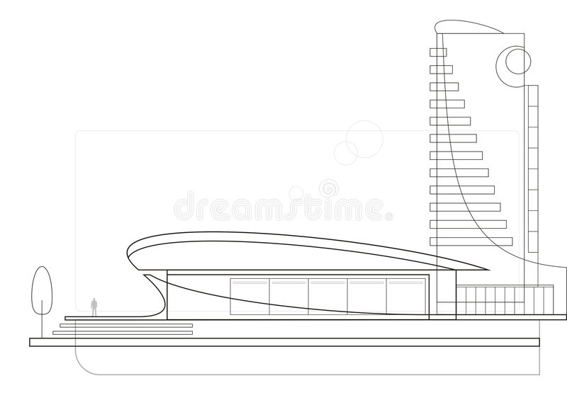Modern Architecture Drawing modern architecture (drawing) stock images - image: 6233124